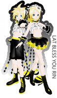 LAT Bless You Rin and Len by ImNerdyWhoGivesADamn
