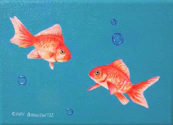 Goldfish by CindysFineArtStudio