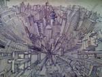 Fisheye cityscape by tomholliday