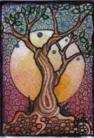 ACEO ATC the tree of wisdom by DawnyDawn