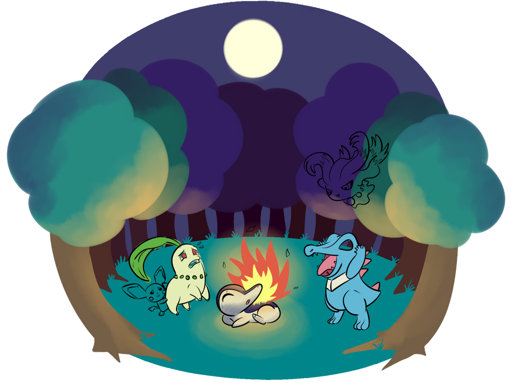 Johto Camping Trip WIP by Typhloser