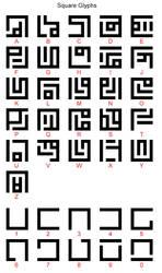 Square Glyphs by Irolan