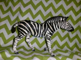 Custom Breyer Zebra Stablemate by Megido23