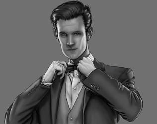 Doctor 11 black and white by Theinkcat