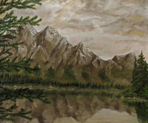 Mountain lake by selfOblivion