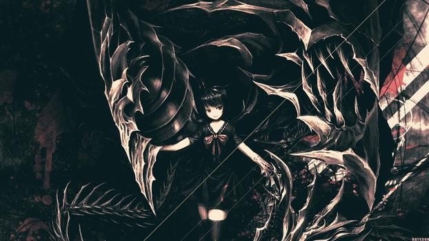 Anime Shadow Girl Wallpaper by Raykorn