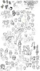 Big Honkin' Sketches Collage by Elyandarin