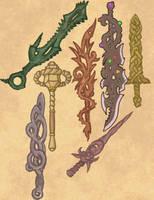 Otherworldly Weapons Dump by Elyandarin