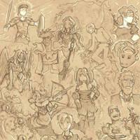 Nobilis: Imperator sketches by Elyandarin