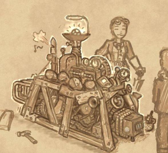 Sketch - Chuubo's Marvelous Wish-Granting Engine by Elyandarin