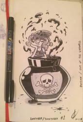 Inktober 2018 #1 Poisonous by Atrox-C