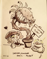 Toontober Day 5 - Plant by Atrox-C