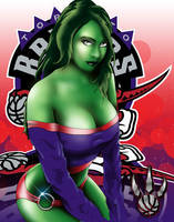SheHulk LOVES the Raptors! by SeanyP40