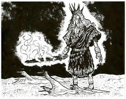 Dark Souls Gwyn Lord of Cinder by jdeberge