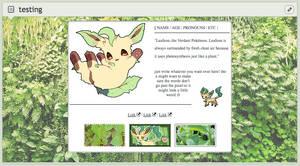 leafeon code - f2u by niightowls