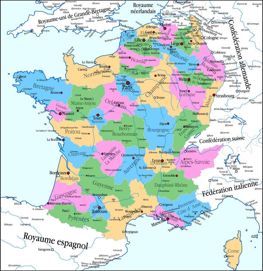 Alternate History Map - France by banananaise on DeviantArt