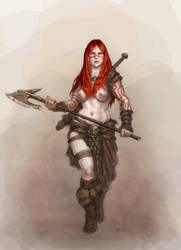 Barbarian girl by Nordheimer