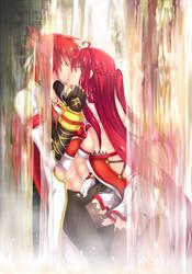 ElswordCollab: Waterfall Kiss by ForbiddenImmortality