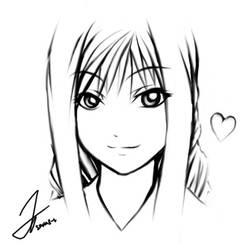 Quick Alicia sketch by Seras-V