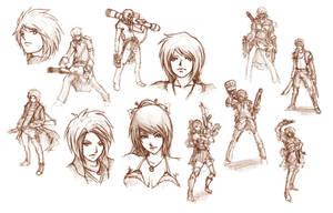 Sketches 01 by Seras-V