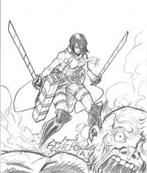Mikasa (scannedrepost) by c-crain