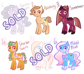 pony adoptables (OPEN 4/6) by teacup-adopts