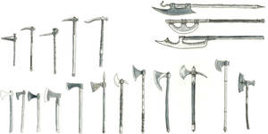axes and picks by Kluwe