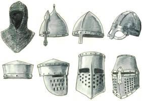 medieval helmets by Kluwe