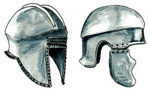 more greek helmets by Kluwe
