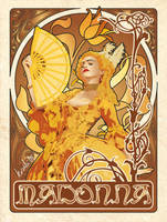Madonna Art Nouveau by kusabear