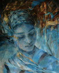 Wencka,  oil on canvas, 100 x 80 by Wencka
