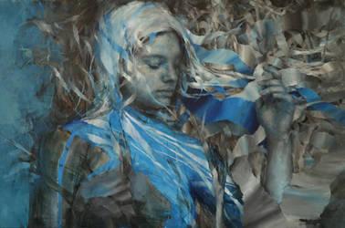Wencka, oil on canvas, 80 x 120, Agnieszka Wencka by Wencka