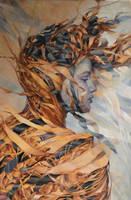 Desert, Agnieszka Wencka, oil on canvas, 120 x 80 by Wencka