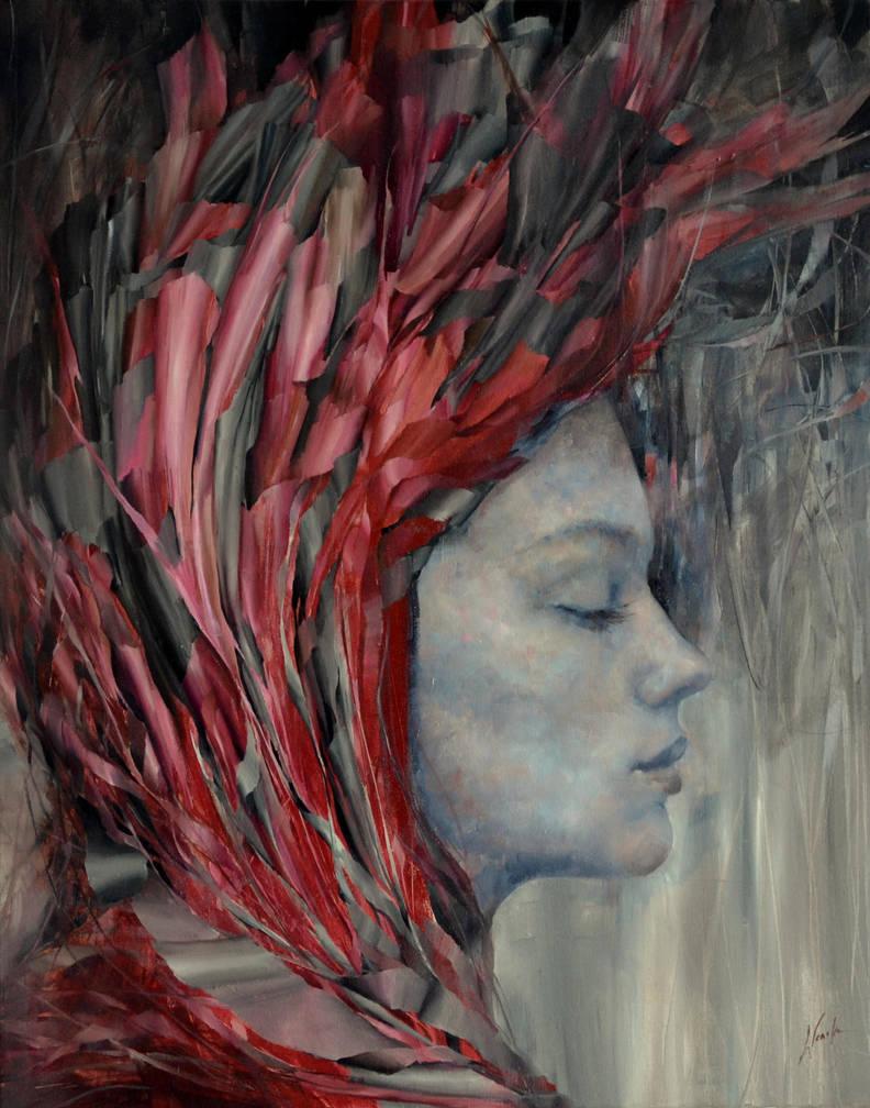 onyx, Agnieszka Wencka, oil on canvas, 100 x 80 by Wencka