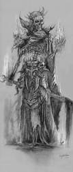 Undead wizard by KnightChan