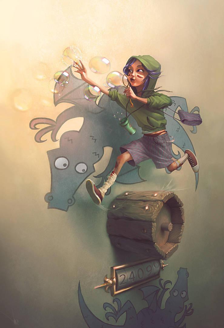 Chasing the dragon - Print by Slight-Shift