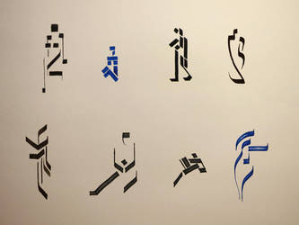Calligraphic model drawin! 9 by Slight-Shift