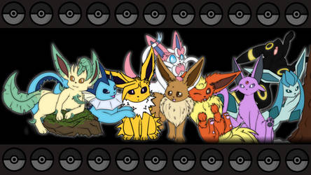 Eeveelution Wallpaper by Maverik-Soldier