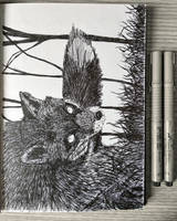 Fox sketch by Mextrep