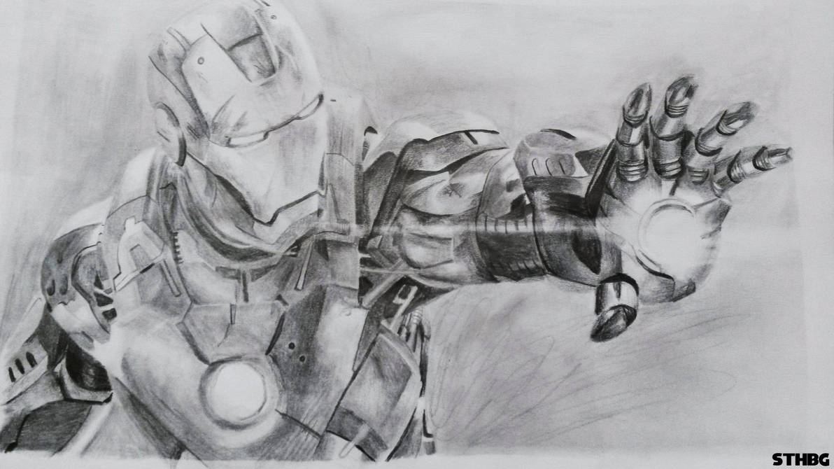 Iron man pencil drawing by sonicthehedgehogbg