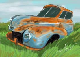 Rusty Blue Car by tadamson