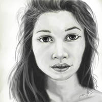 Realistic Female Portrait by tadamson