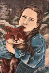 Girl with Fox by tadamson