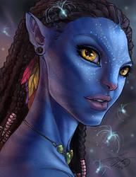Neytiri Avatar by kamillyonsiya