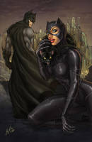 Batman and Catwoman by kamillyonsiya