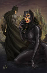 Batman and Catwoman by kamillyonsiya