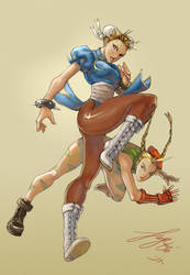Chun Li Cammy Street Fighter by kamillyonsiya