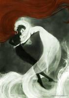Undine falls for Huldbrand by Heylenne