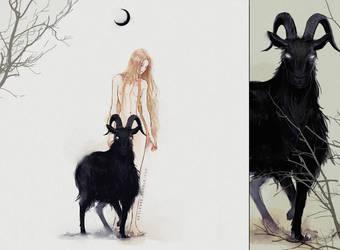 Black Phillip by Heylenne