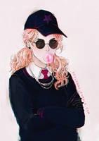 Elly Sketchy Portrait by Heylenne